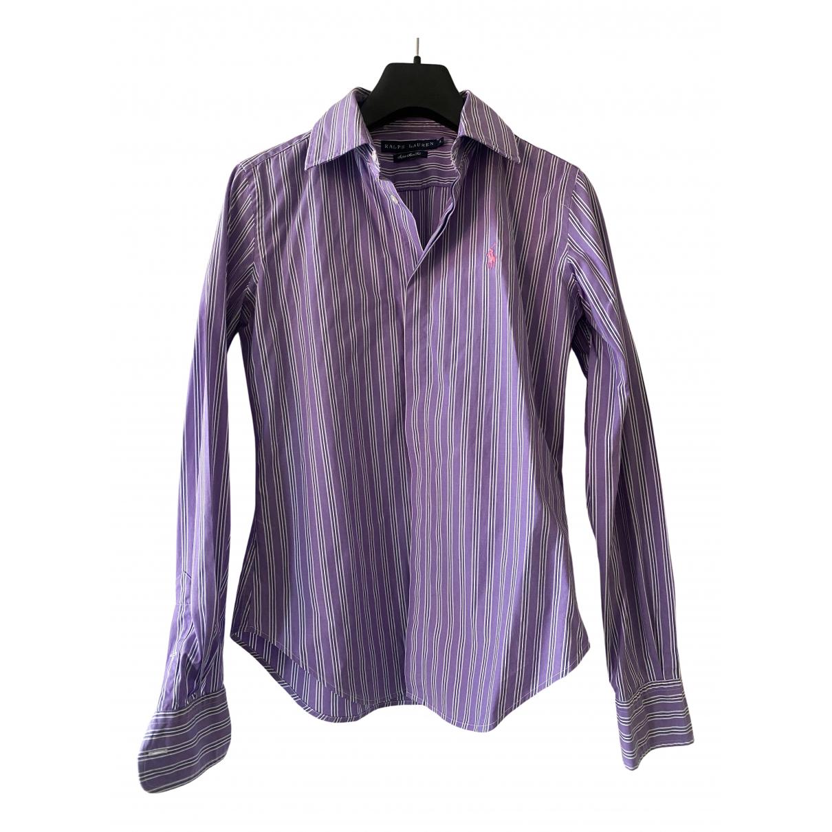 Ralph Lauren - Top   pour femme en coton - violet