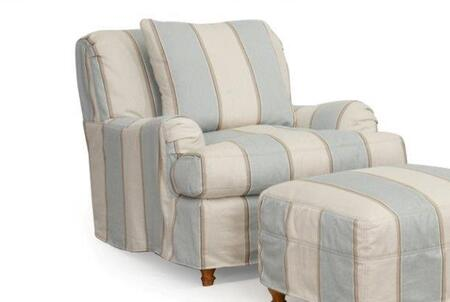 SU-116420SC-479541 Seacoast Chair - Slip Cover Set Only - Beach House