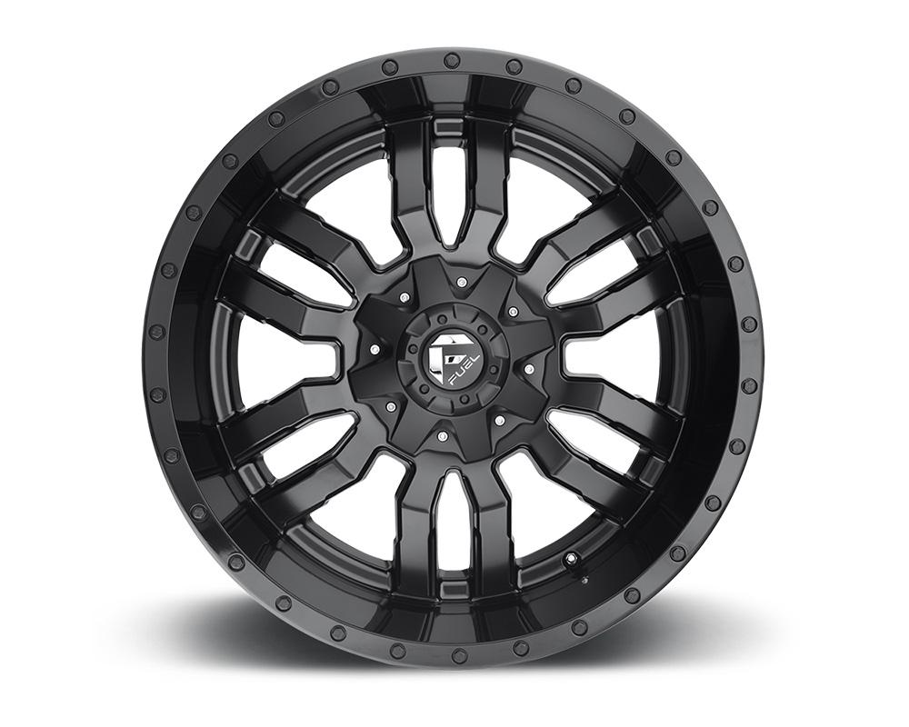 Fuel D596 Sledge Matte Black w/ Gloss Black Lip 1-Piece Cast Wheel 18x9 6x135|6x139.7 -12mm