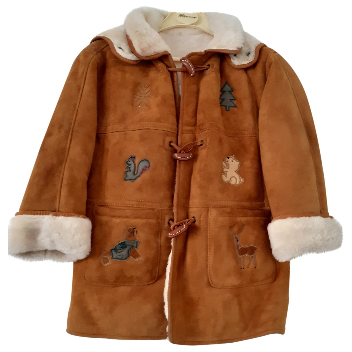 Non Signé / Unsigned \N Camel Suede jacket & coat for Kids 8 years - up to 128cm FR