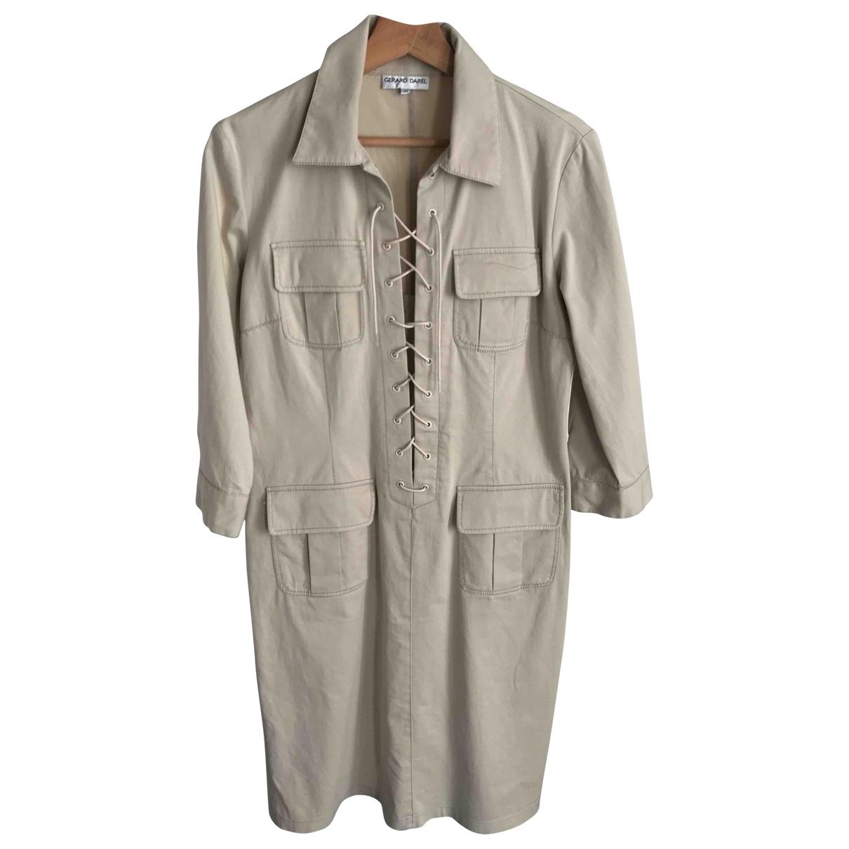 Gerard Darel \N Beige Cotton dress for Women 42 FR