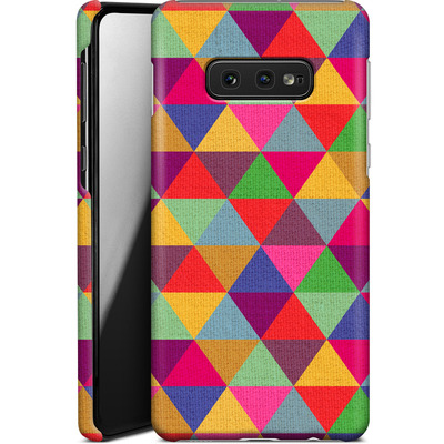 Samsung Galaxy S10e Smartphone Huelle - In Love With Triangles von Bianca Green