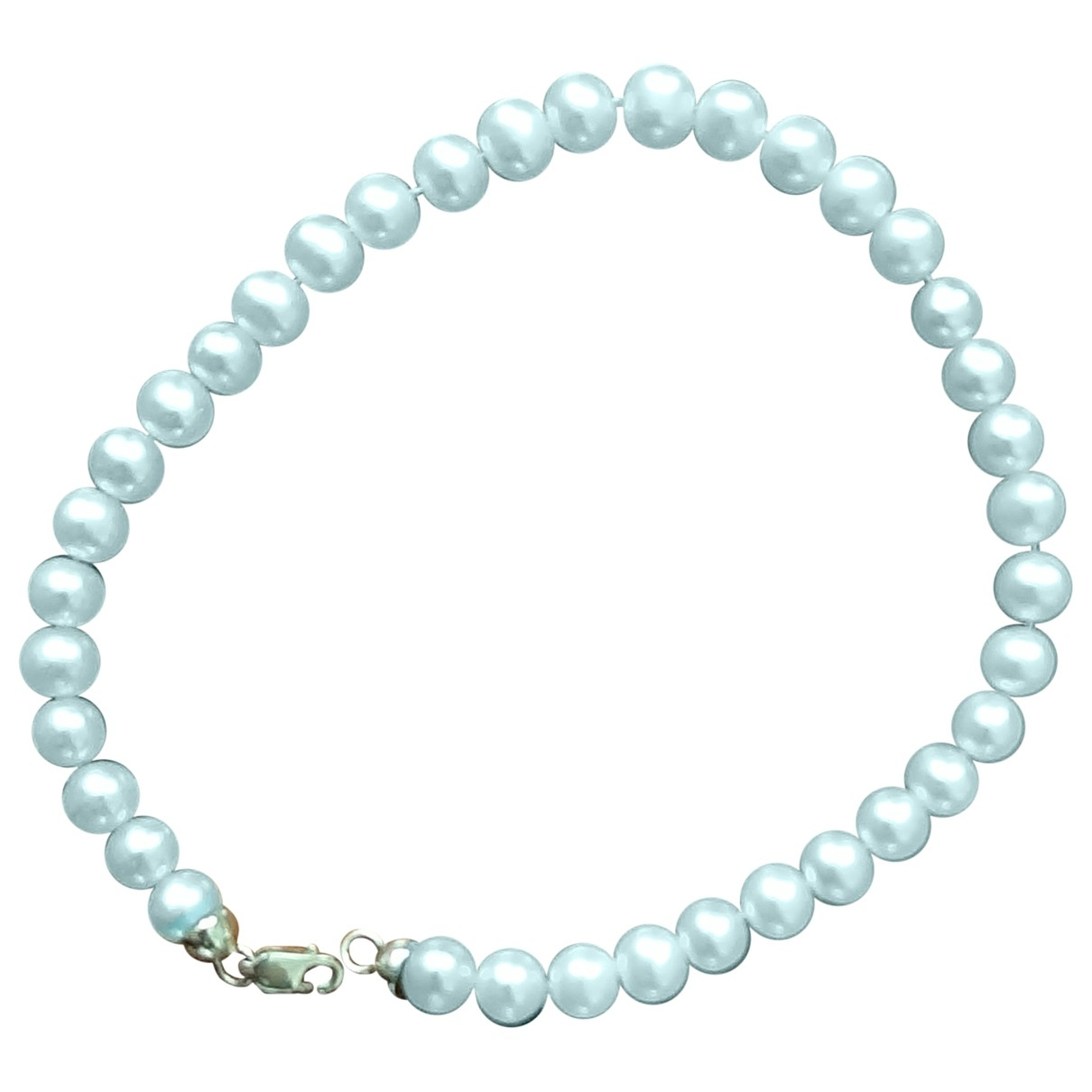 Non Signe / Unsigned Nacre Armband in  Weiss Perlen