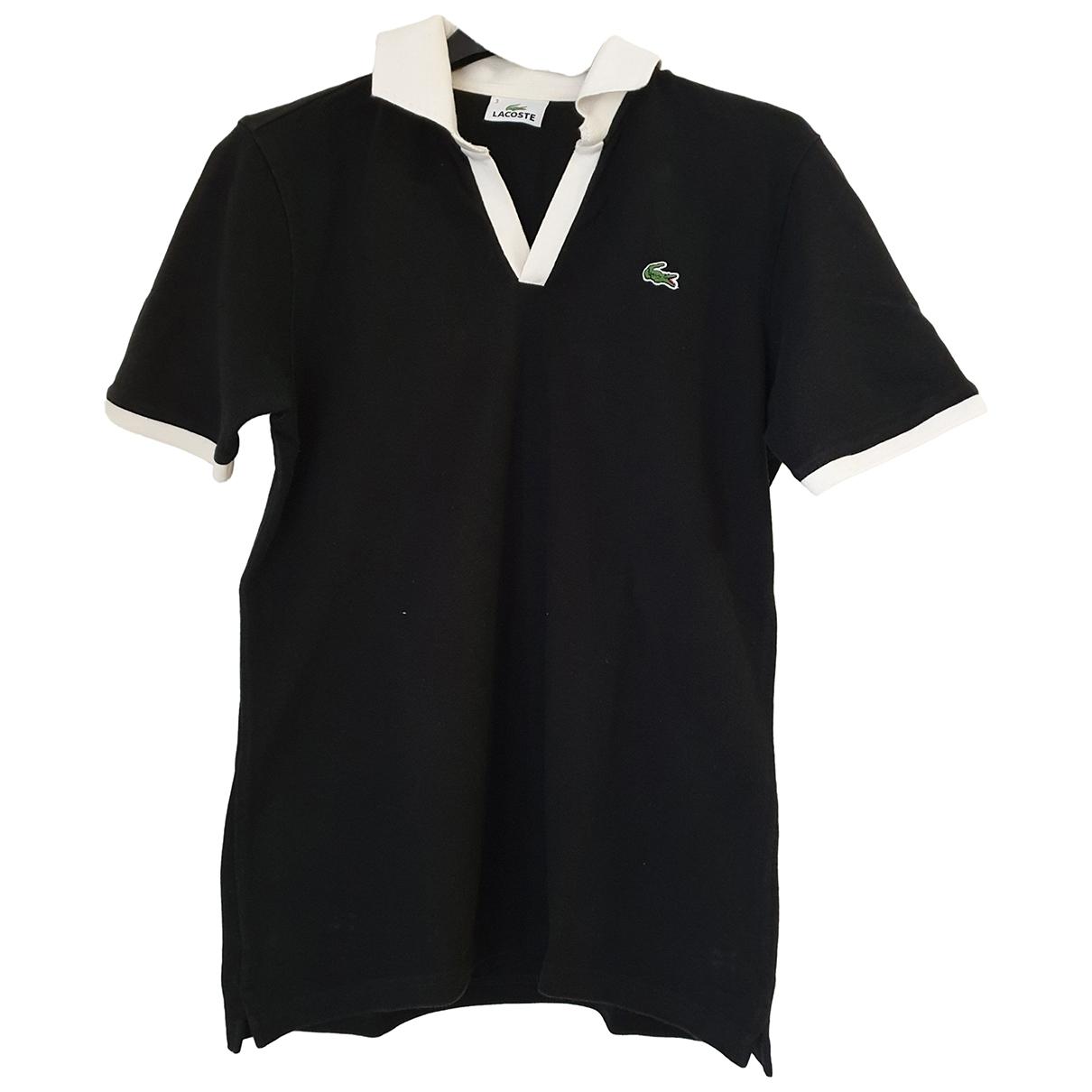 Lacoste - Polos   pour homme en coton - noir