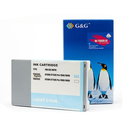 Compatible Epson T563500 T562500 Light Cyan Ink Cartridge Pigment - G&G