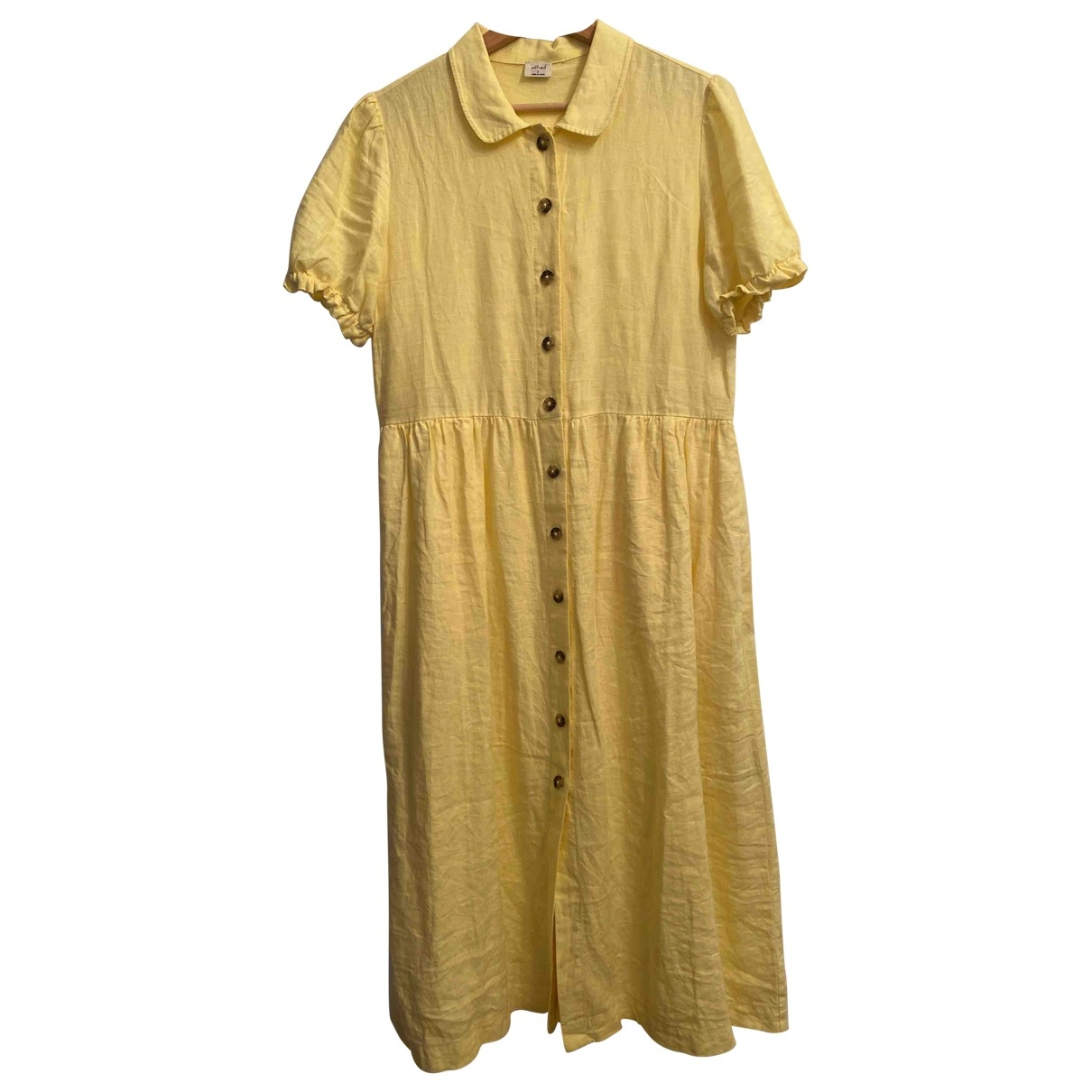 Aritzia - Robe   pour femme en lin - jaune