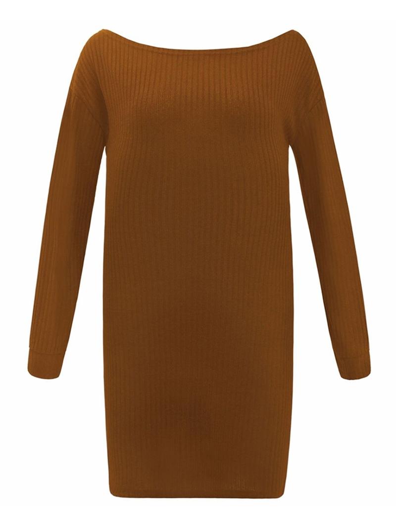 Ericdress Above Knee Long Sleeve Standard-Waist Casual Dress
