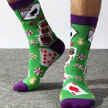 Maenner Socken mit Karte Muster