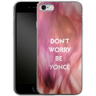 Apple iPhone 6 Silikon Handyhuelle - Dont Worry Be Yonce von Statements