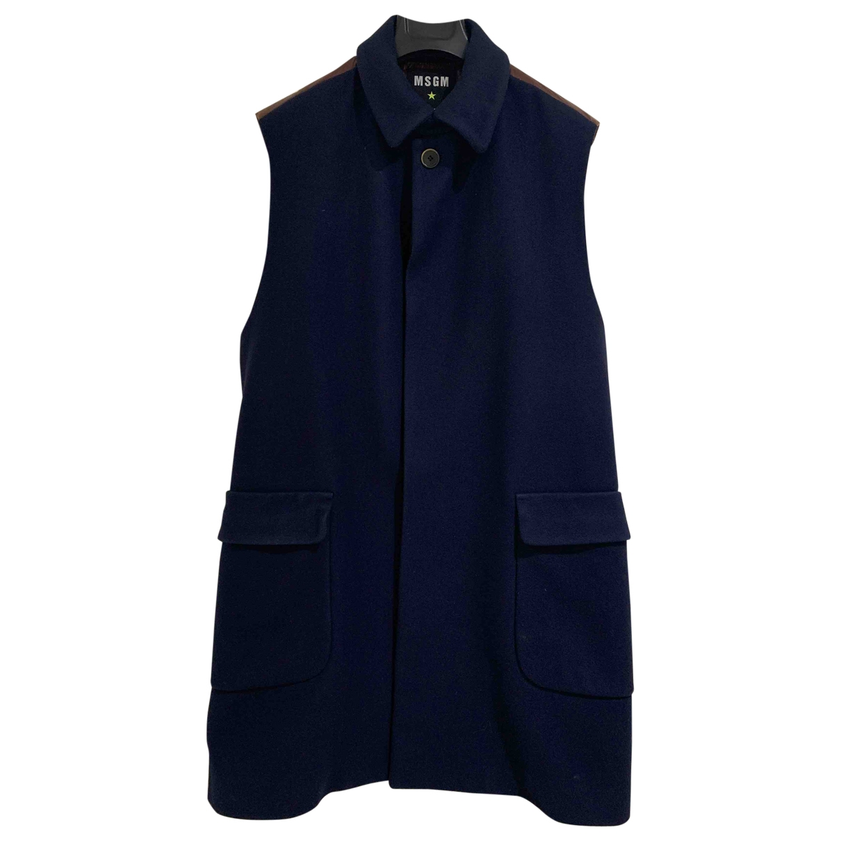 Msgm \N Navy Wool coat  for Men 48 IT