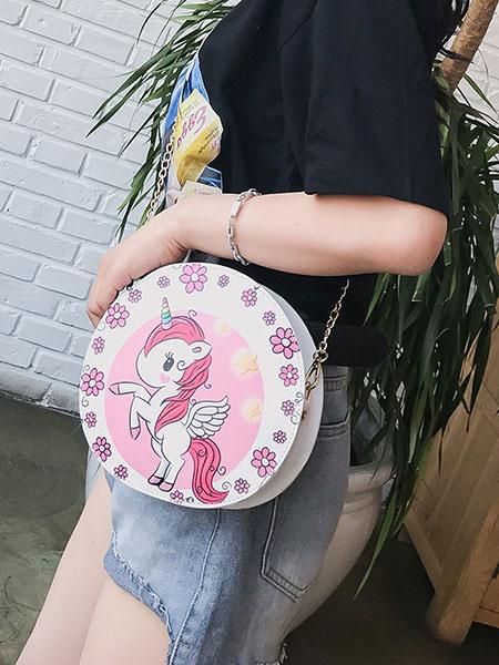 Milanoo Sweet Lolita Chain Bag Unicorn Print PU Lolita Shoulder Bag