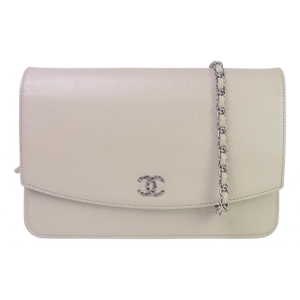Chanel Wallet on Chain Clutch in  Beige Leder