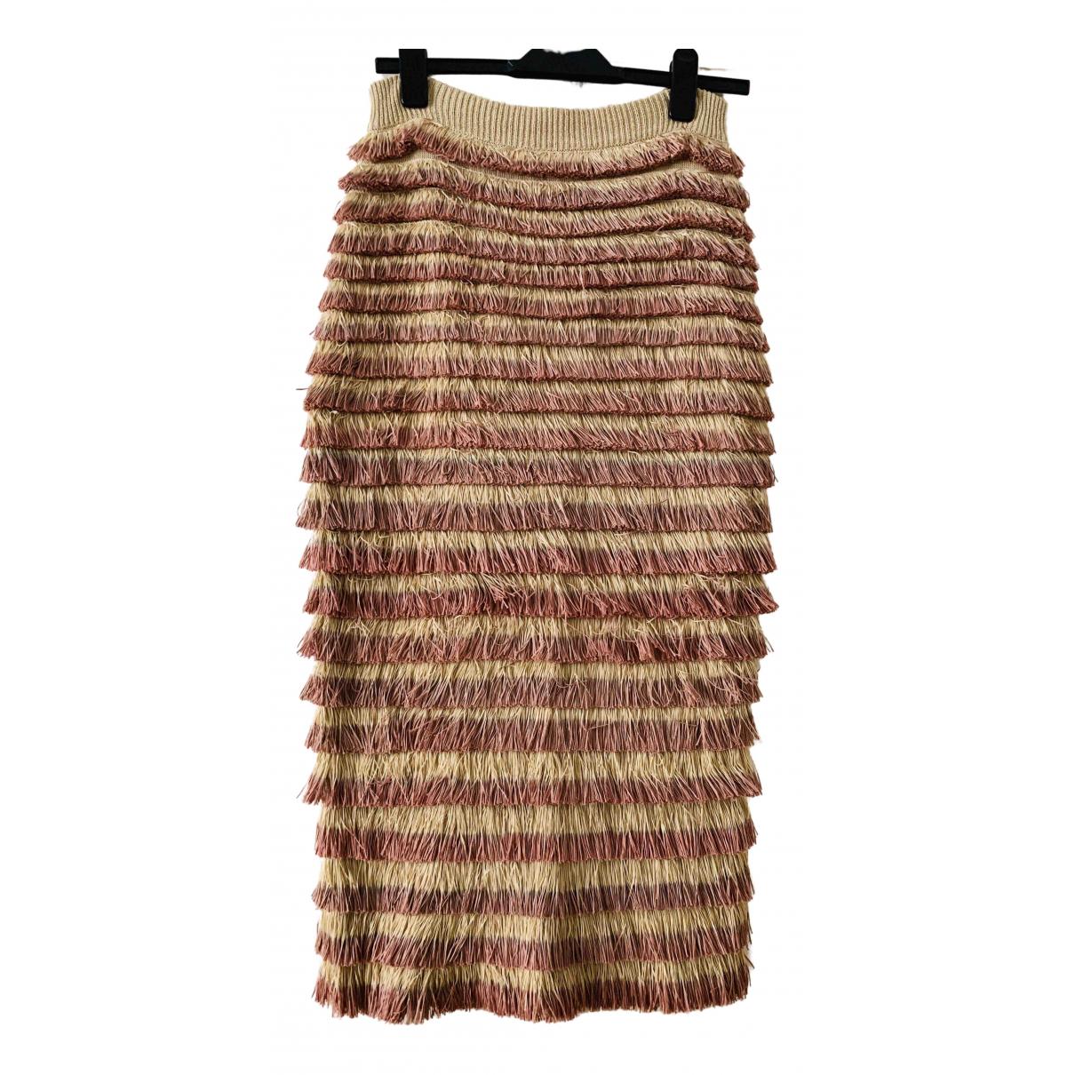 Burberry \N Beige Cotton - elasthane skirt for Women S International