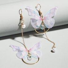 Pendientes con mariposa