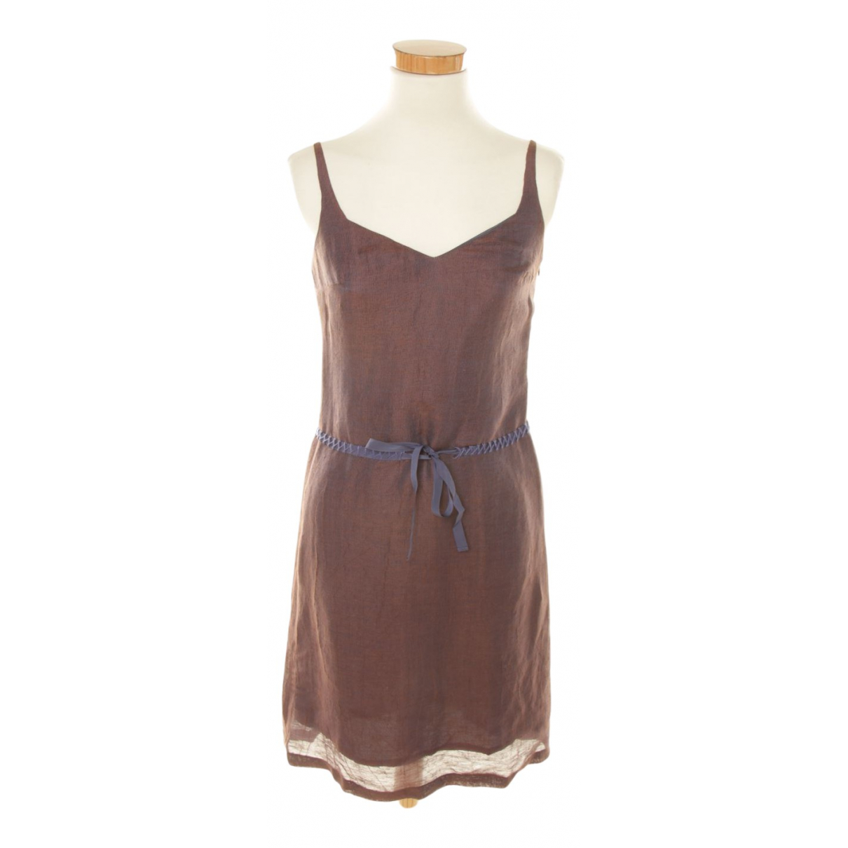 Aspesi - Robe   pour femme en lin - violet
