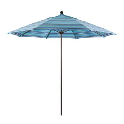 ALTO908117-56001 9' Venture Series Commercial Patio Umbrella With Bronze Aluminum Pole Fiberglass Ribs Push Lift With Sunbrella 1A Dolce Oasis