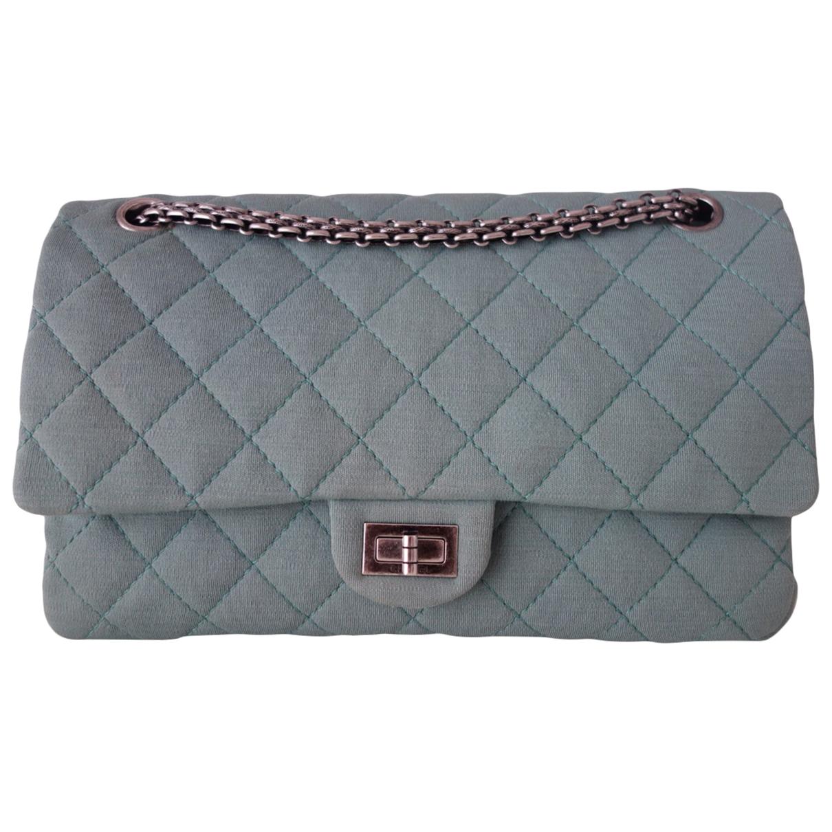 Chanel 2.55 Handtasche in  Gruen Leinen