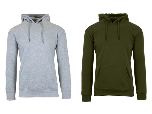 Men's 2 Pk Fleece-lined Pullover Hoodie