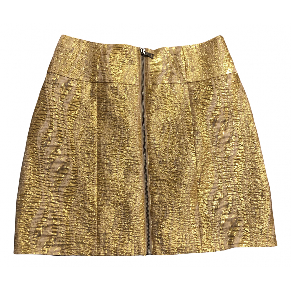Bcbg Max Azria - Jupe   pour femme en coton - dore