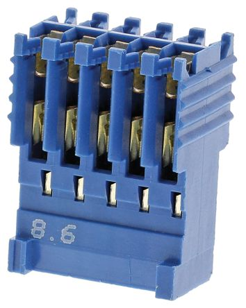 TE Connectivity , AMPMODU HE14 Female Connector Housing, 2.54mm Pitch, 10 Way, 2 Row (10)