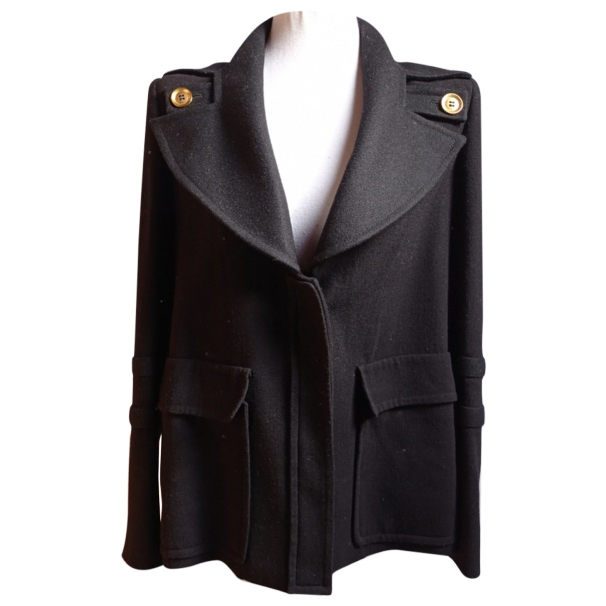 Givenchy N Black Wool coat for Women 36 FR