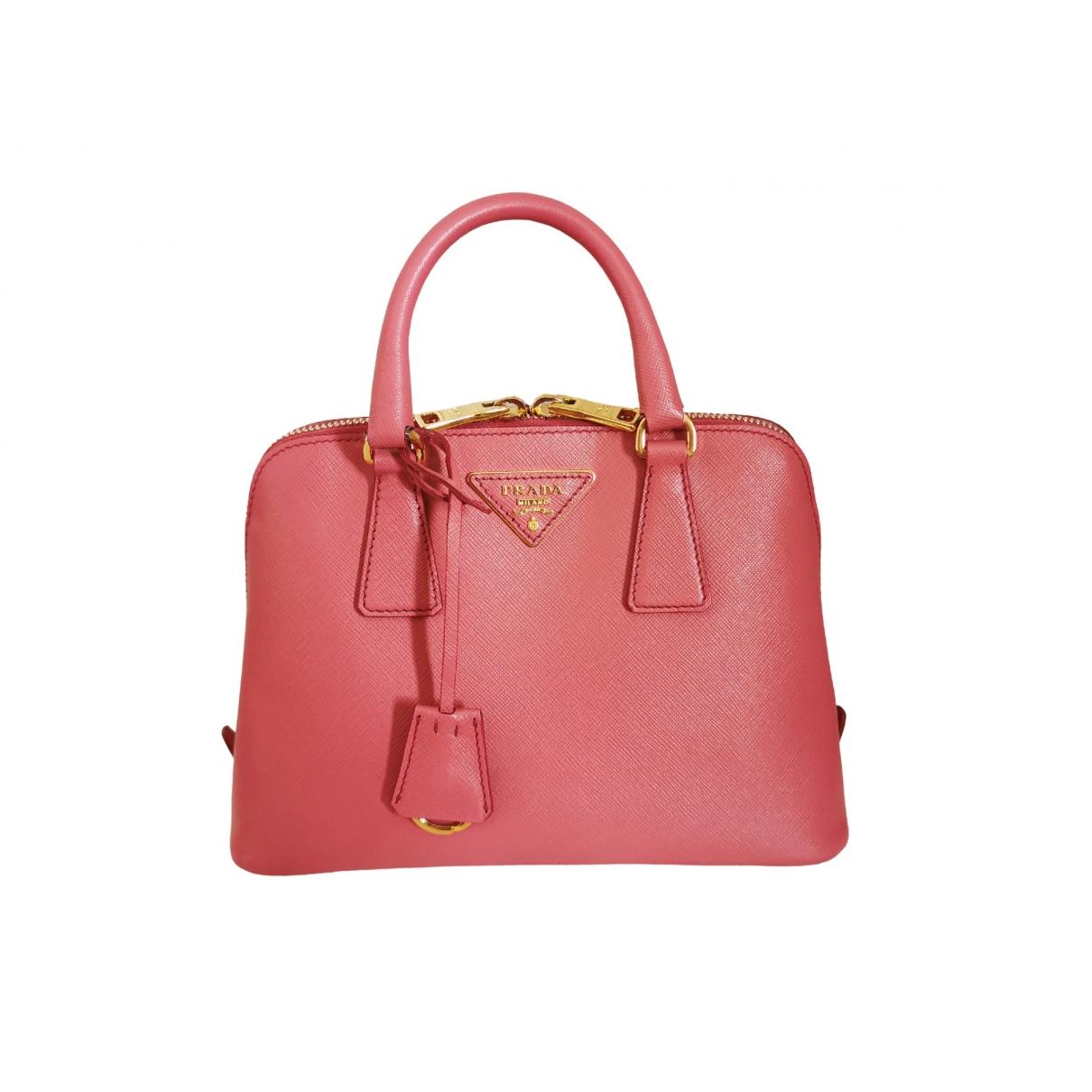 Prada Promenade Handtasche in  Rosa Leder