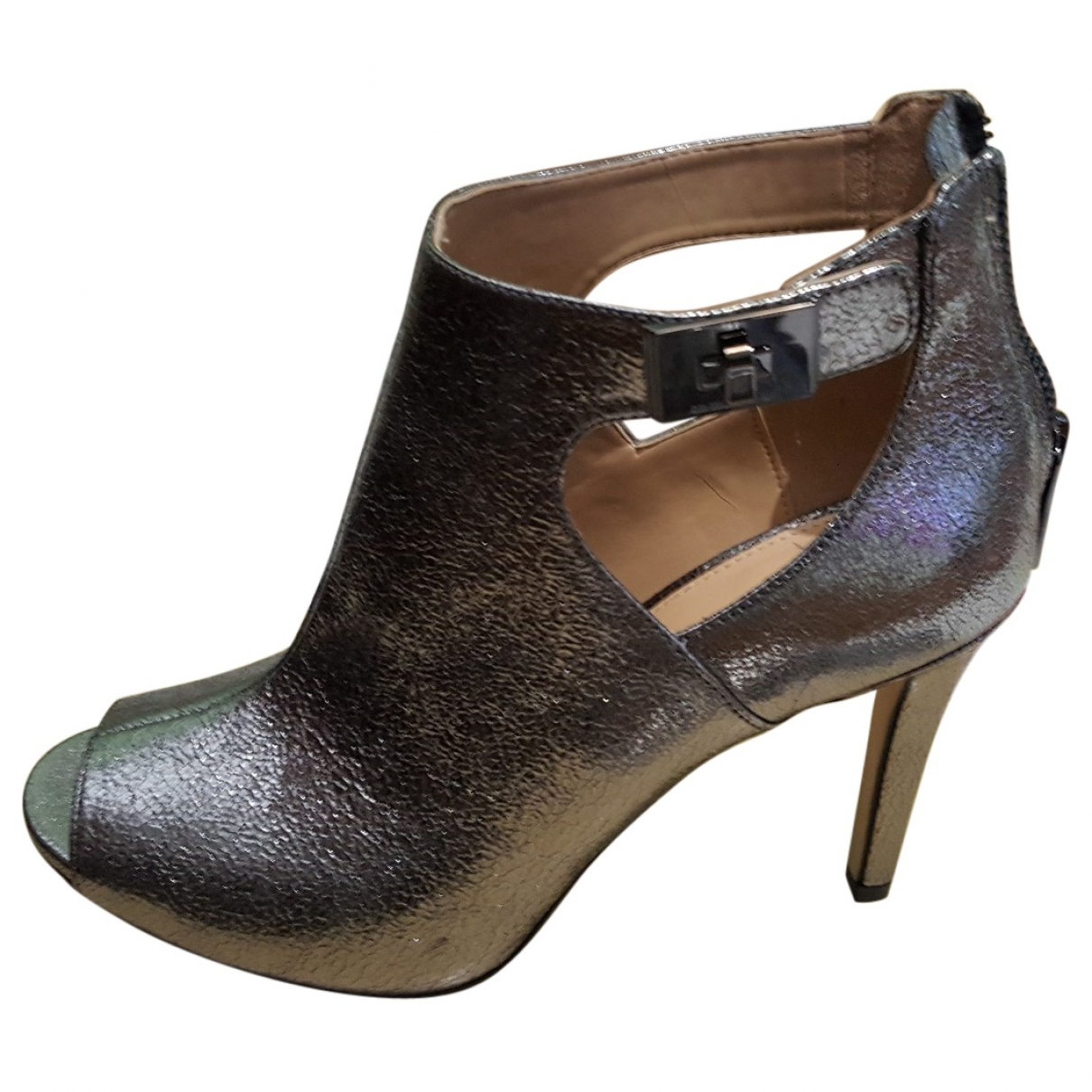 Michael Kors \N Silver Leather Ankle boots for Women 8 US