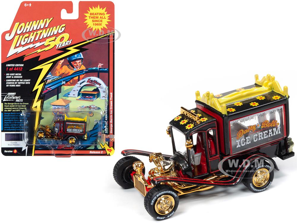 George Barris Ice Cream Truck Daisy Bell Custom Black Metallic Limited Edition to 4412 pieces Worldwide Johnny Lightning 50th Anniversary 1/64 Di