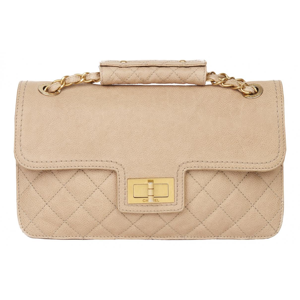 Chanel 2.55 Handtasche in  Beige Leder