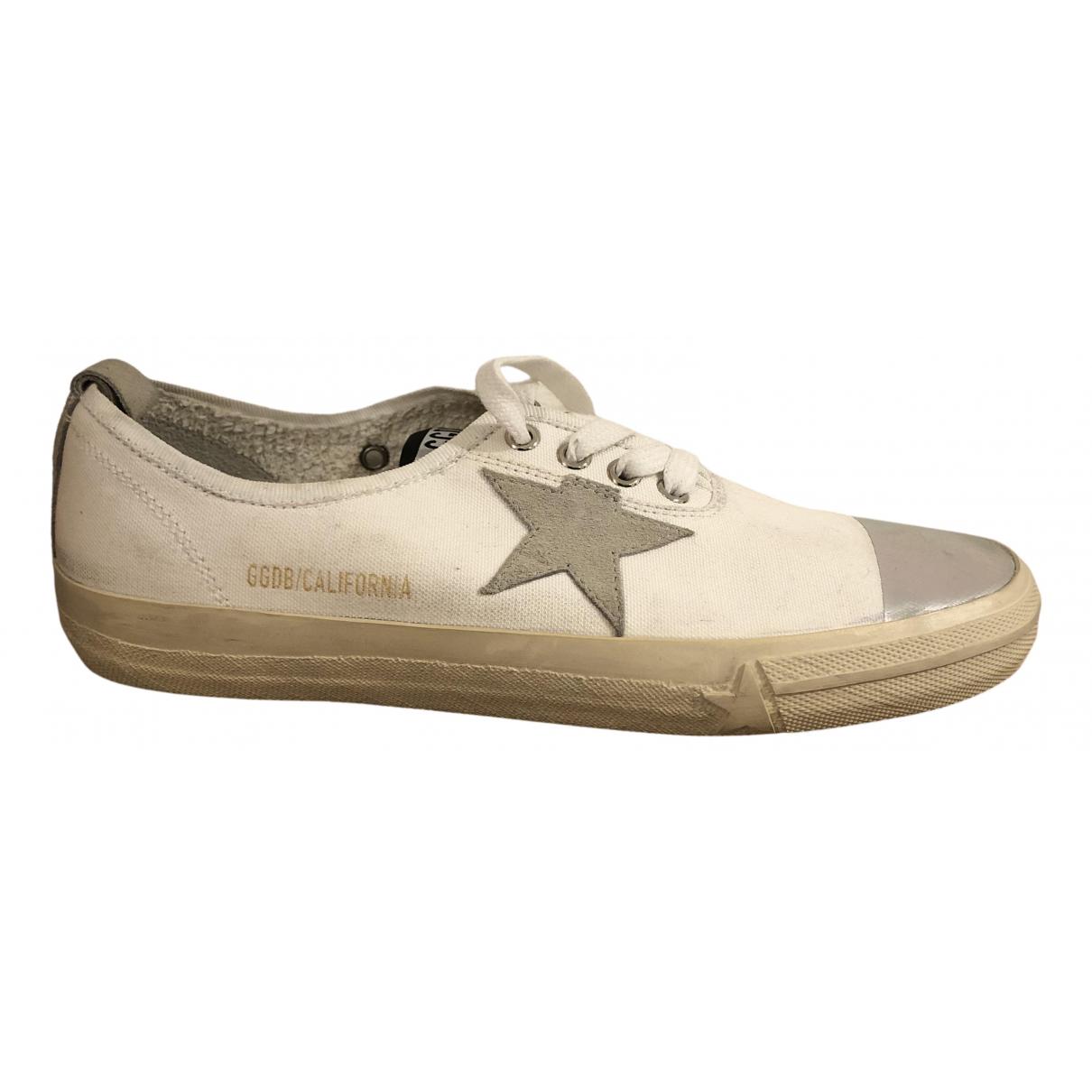 Golden Goose \N Sneakers in  Weiss Leinen