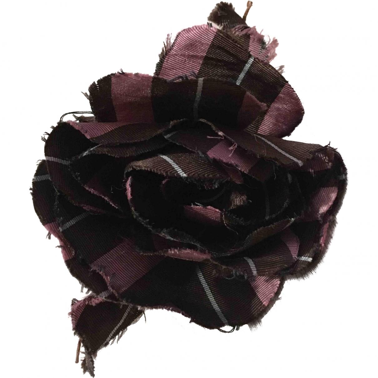 Marni \N brown/pink Silk Pins & brooches for Women \N