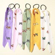 5pcs Girls Butterfly Pattern Hair Tie