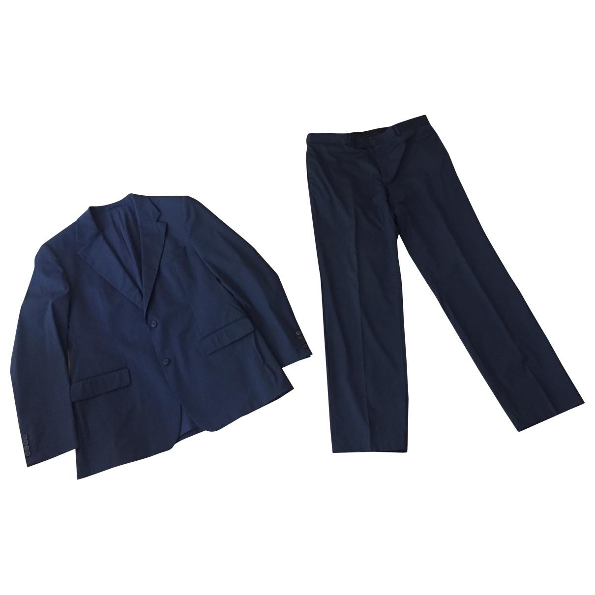 Hugo Boss - Costumes   pour homme en laine - bleu