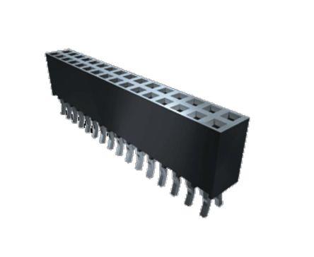 Samtec , SSQ 2.54mm Pitch 10 Way 1 Row Straight PCB Socket, Through Hole, Through Hole Termination