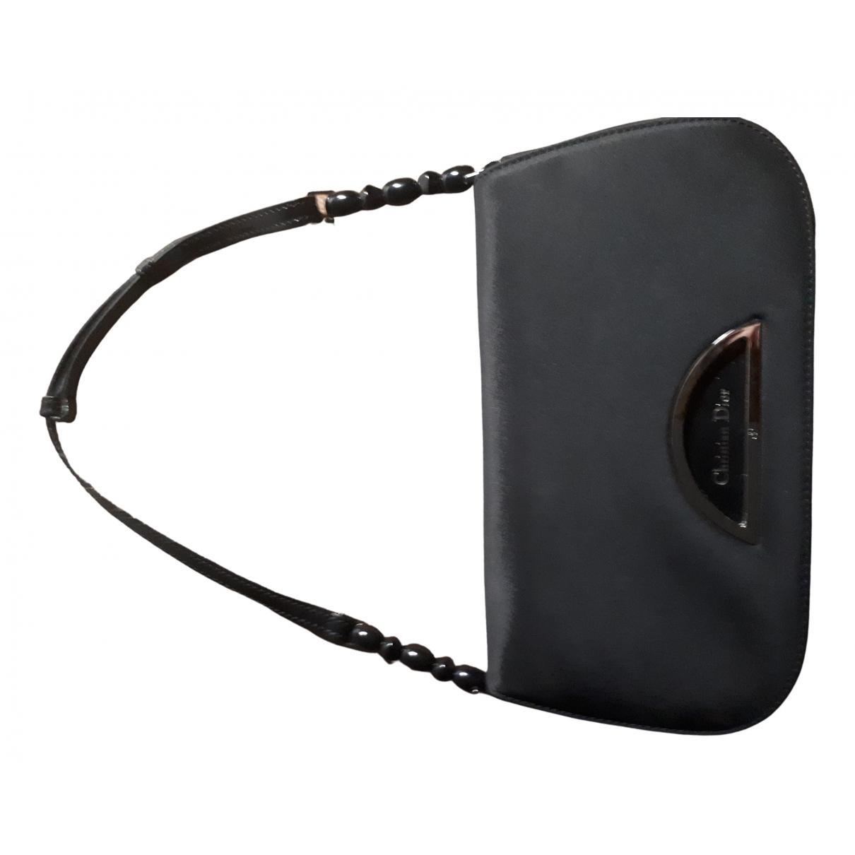 Dior Malice Handtasche in  Schwarz Leinen