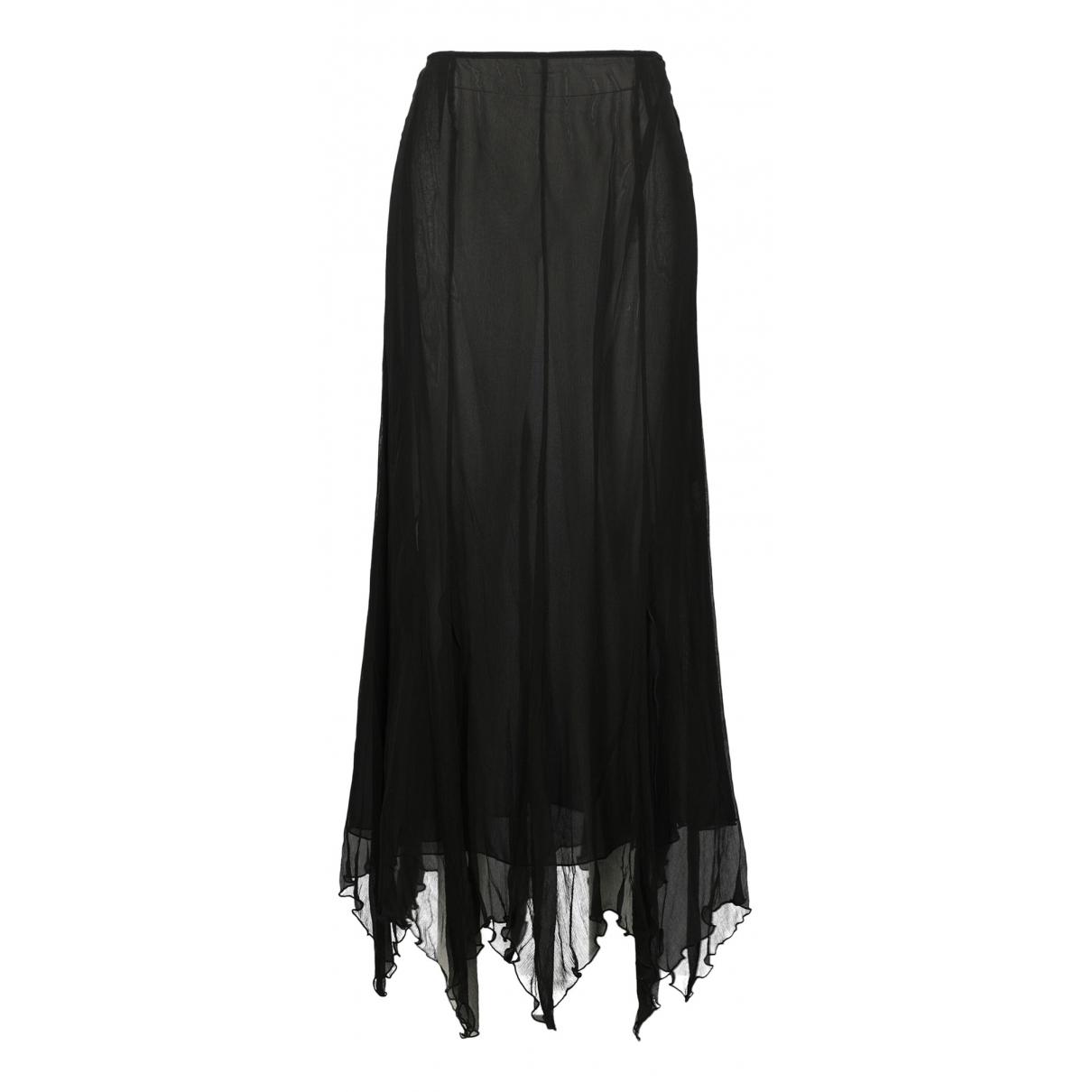 Blumarine - Jupe   pour femme en soie - noir