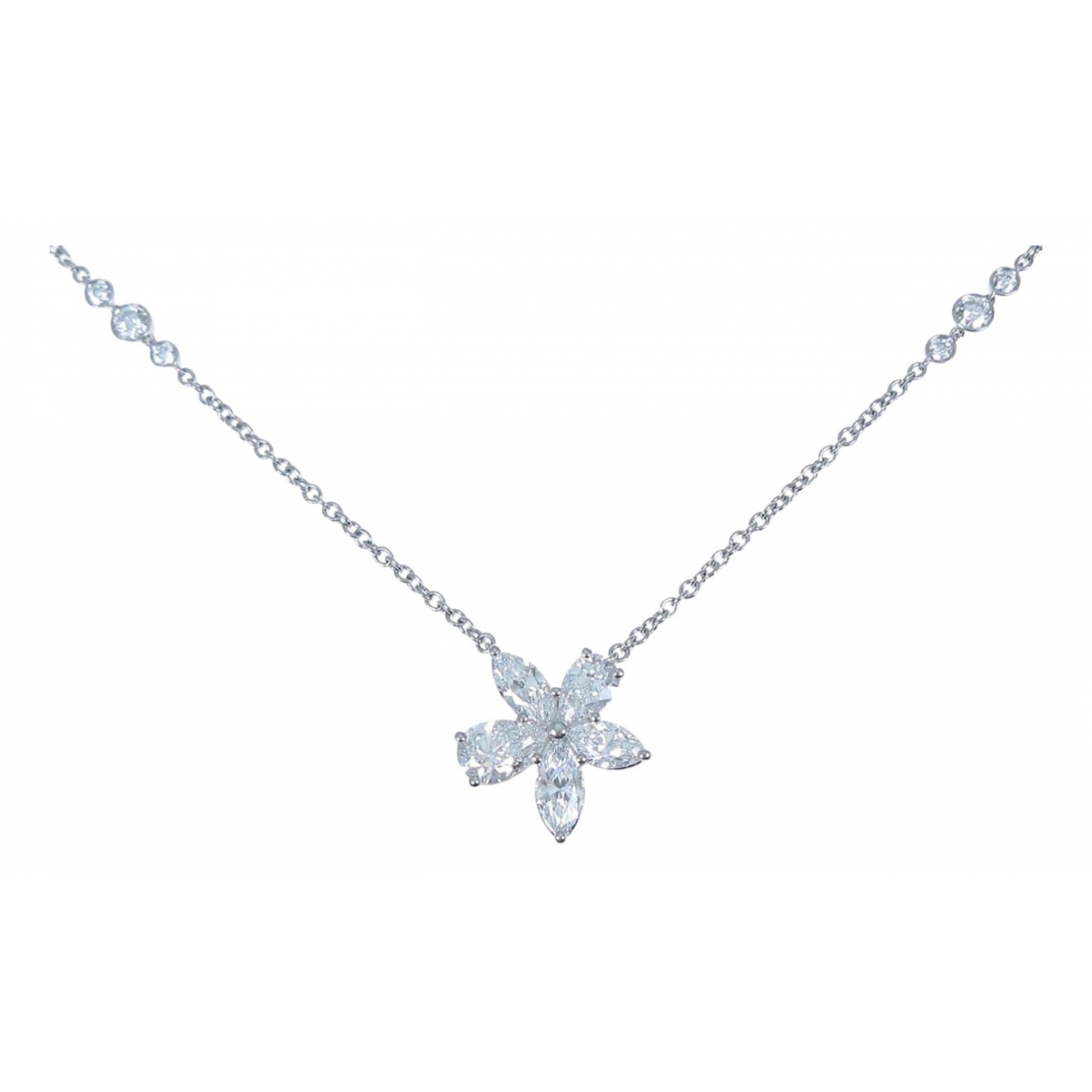 Tiffany & Co \N Silver Platinum necklace for Women \N