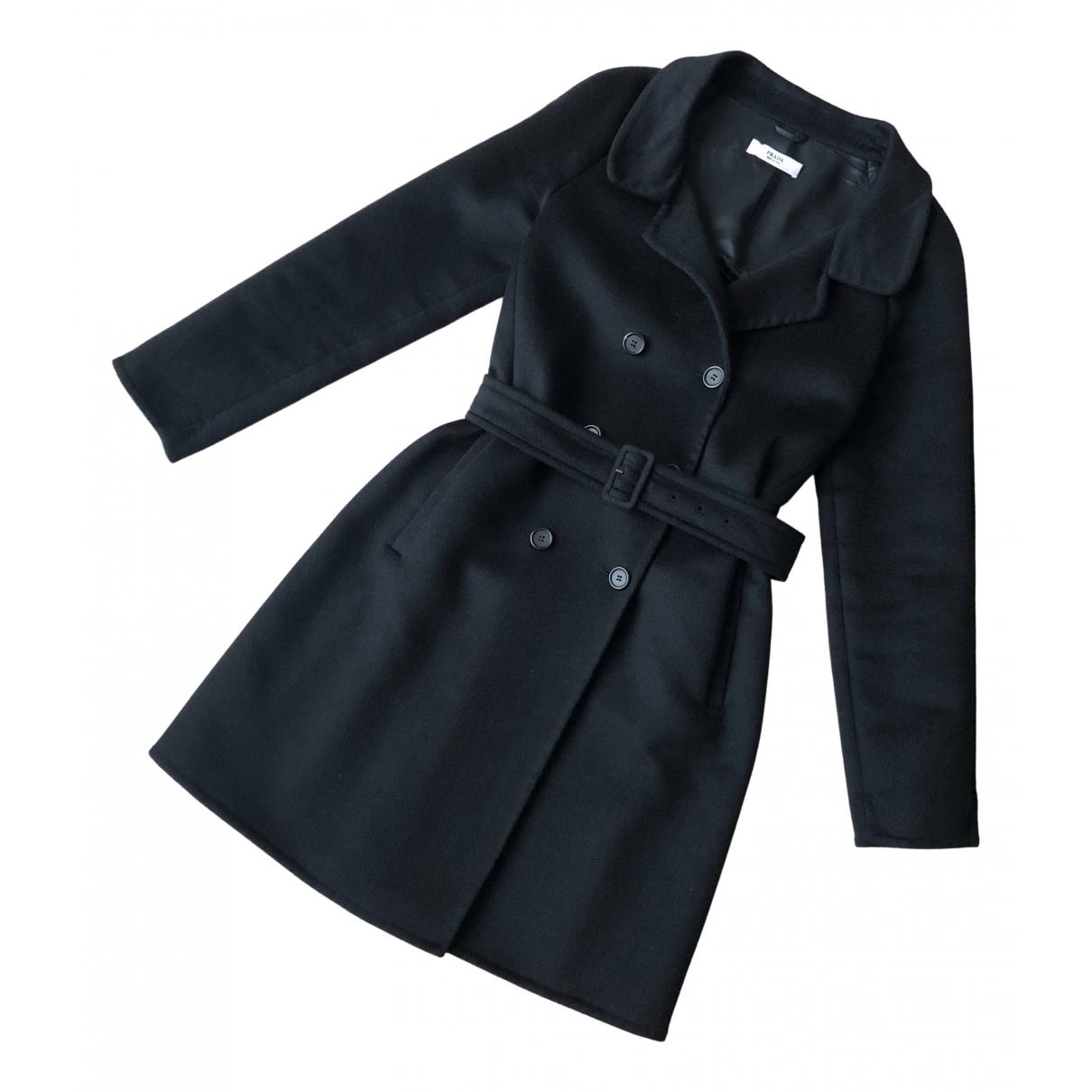 Prada - Manteau   pour femme en laine - noir