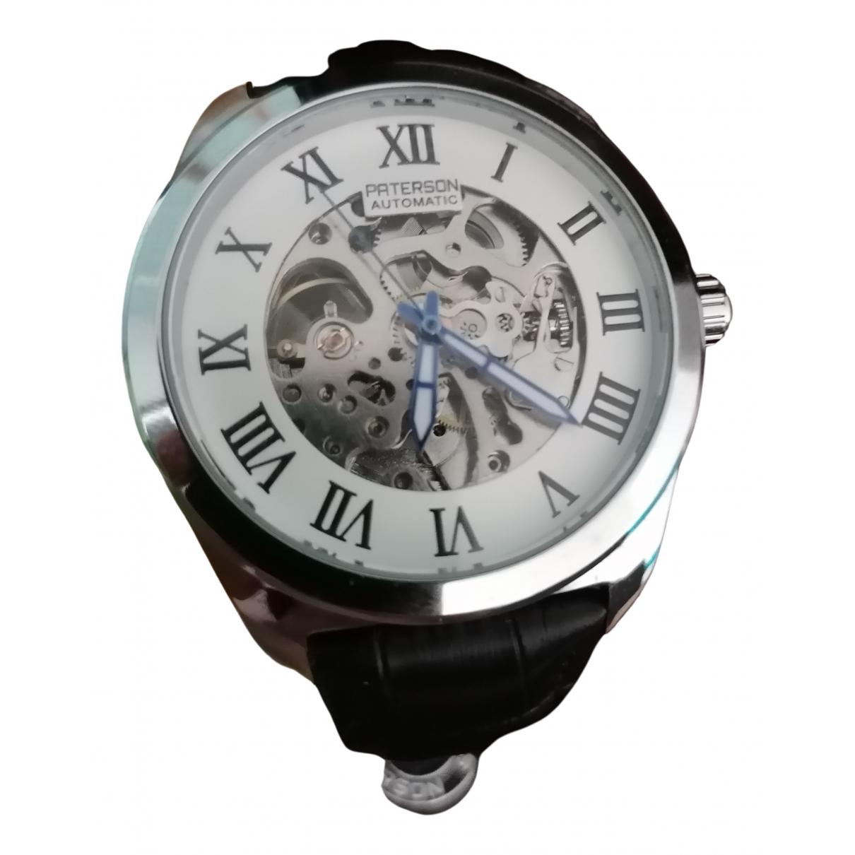 Paterson \N Uhr in  Schwarz Stahl