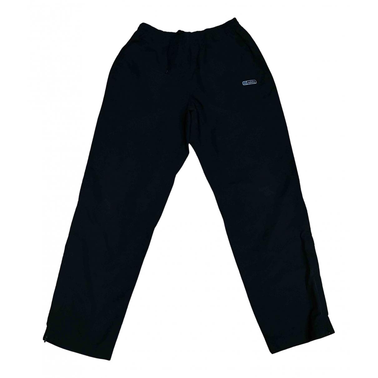 Pantalones en Sintetico Negro Adidas