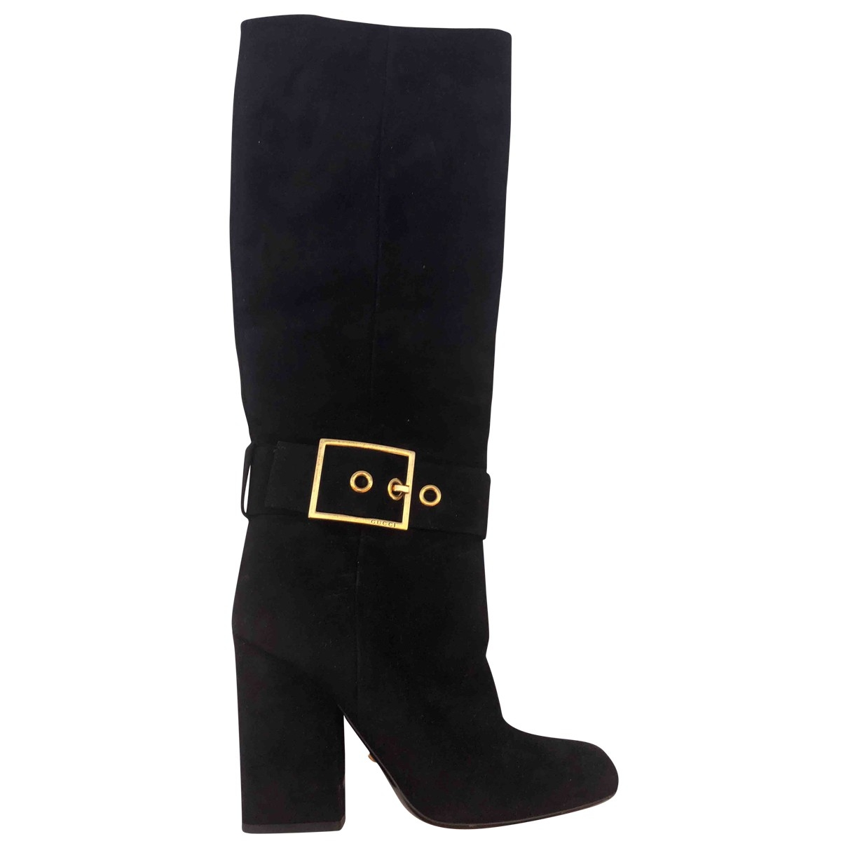 Gucci \N Black Suede Boots for Women 37.5 EU