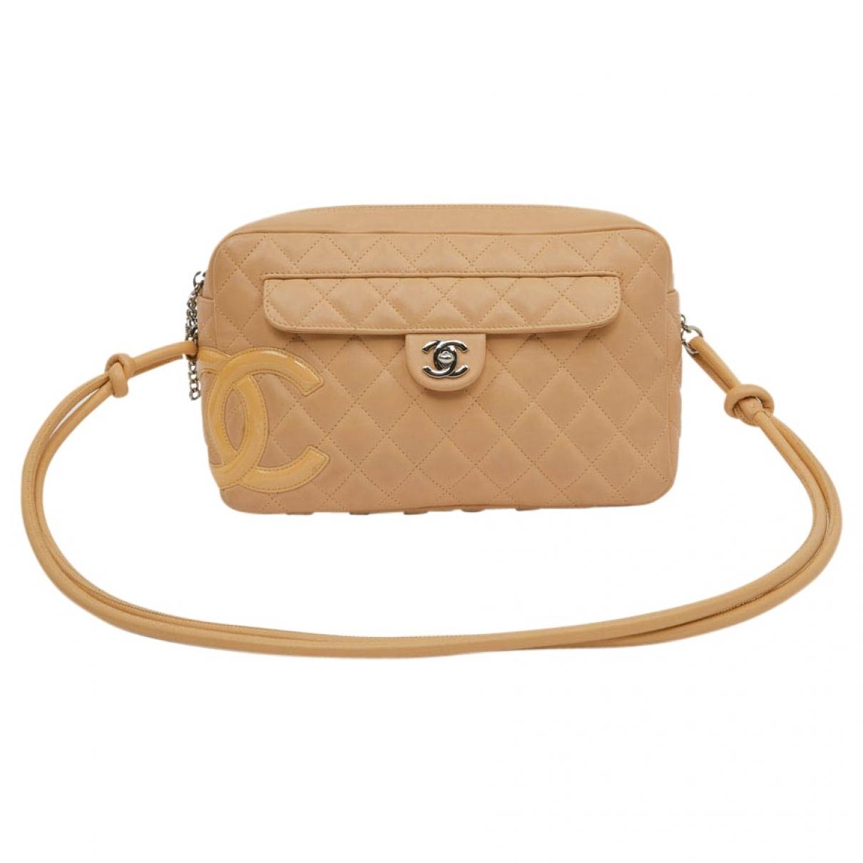 Chanel Cambon Beige Leather handbag for Women \N