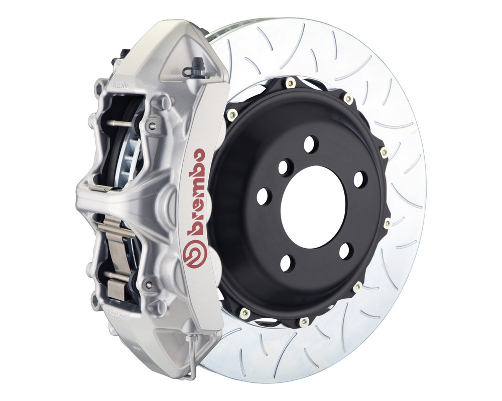 Brembo GT 355x32 2-Piece 6 Piston Silver Slotted Type-3 Front Big Brake Kit