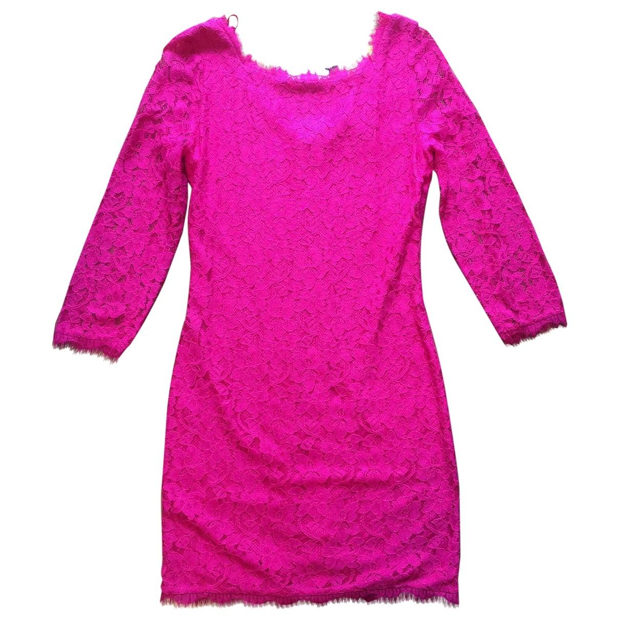 Diane Von Furstenberg \N Pink Lace dress for Women 6 US