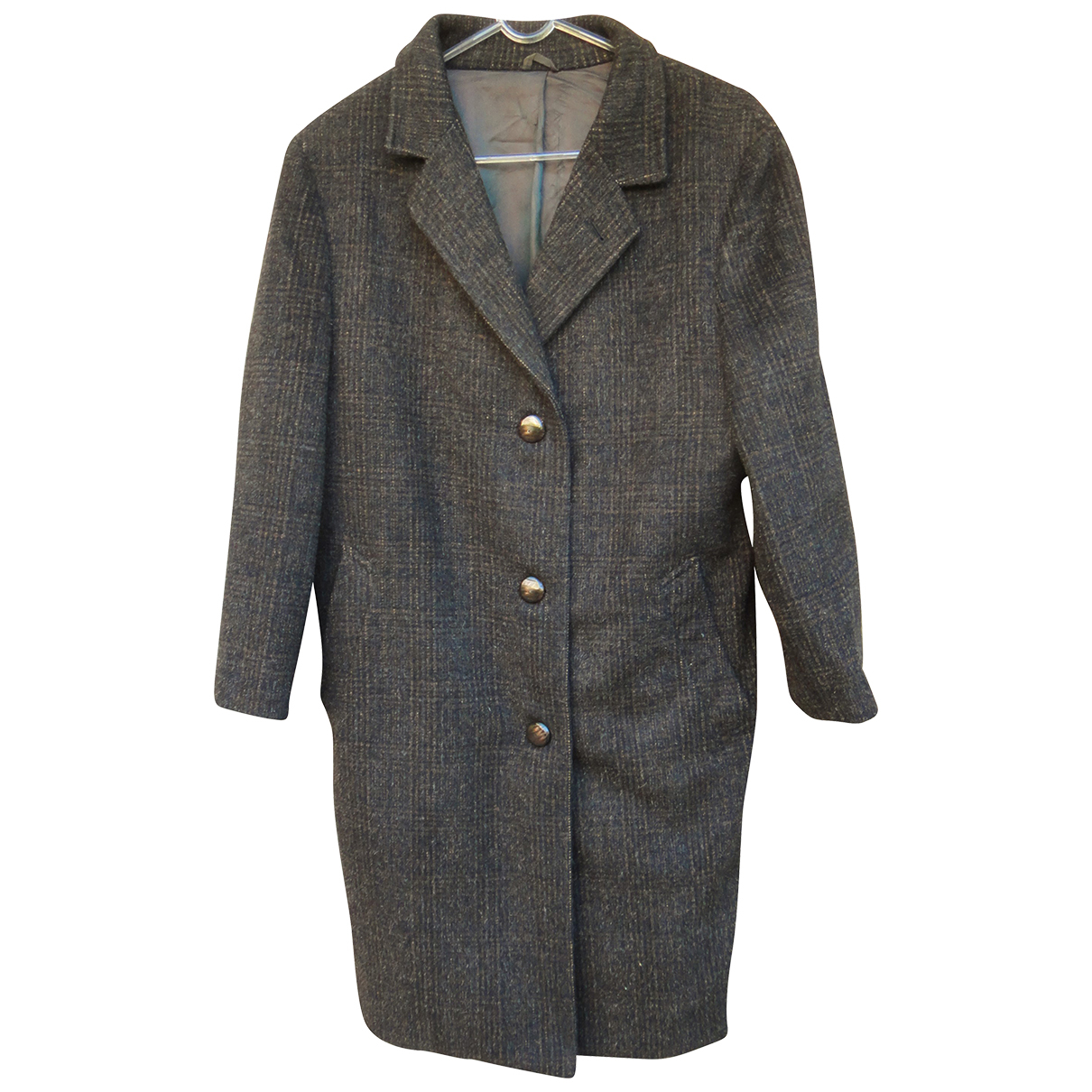 Non Signé / Unsigned \N Anthracite Wool coat for Women 40 FR