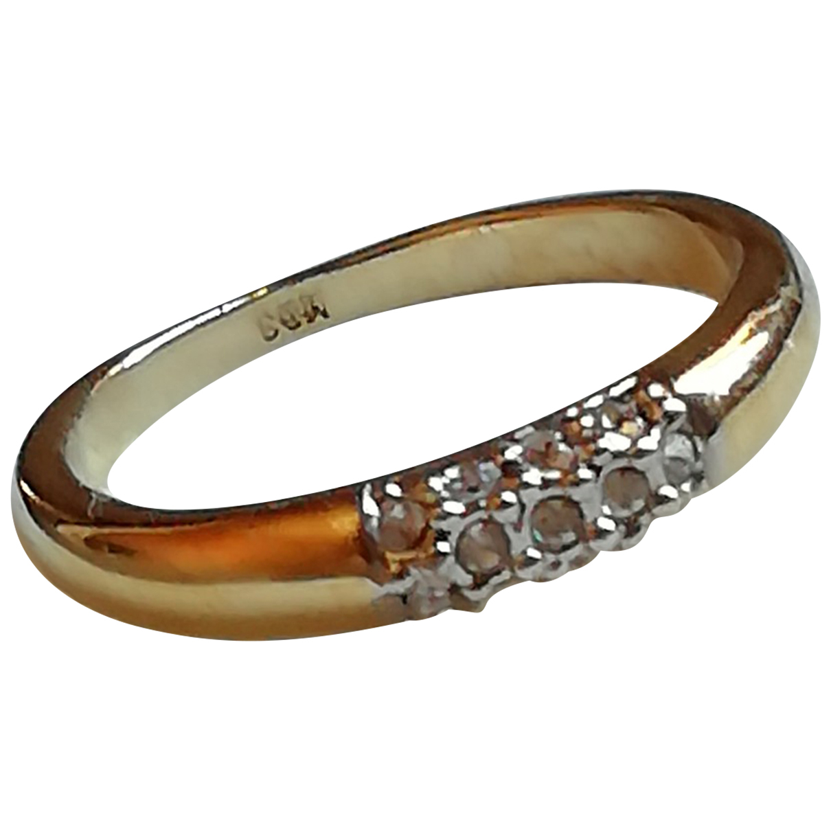 Non Signé / Unsigned Bagues Cocktails Gold Metal ring for Women 60 EU