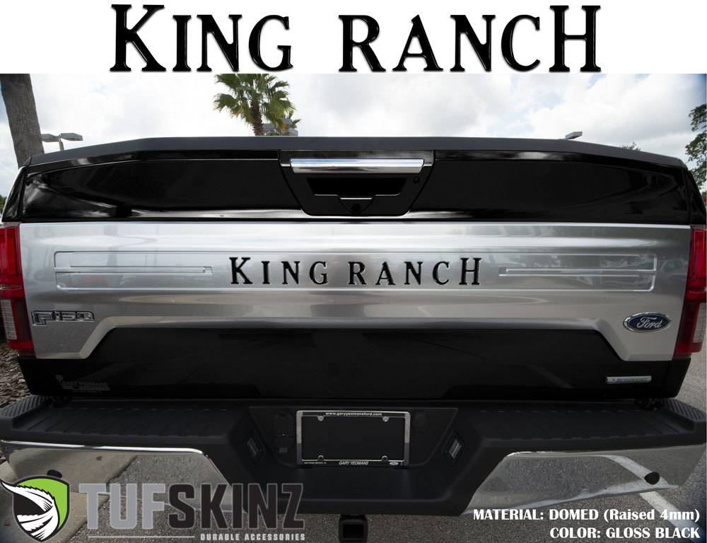 Tufskinz FRD009-BLK-G Tailgate Inserts Fits 2018-2021 Ford F-150 King Ranch 9 Piece Kit Gloss Black