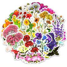 50sheets Flower Random Sticker