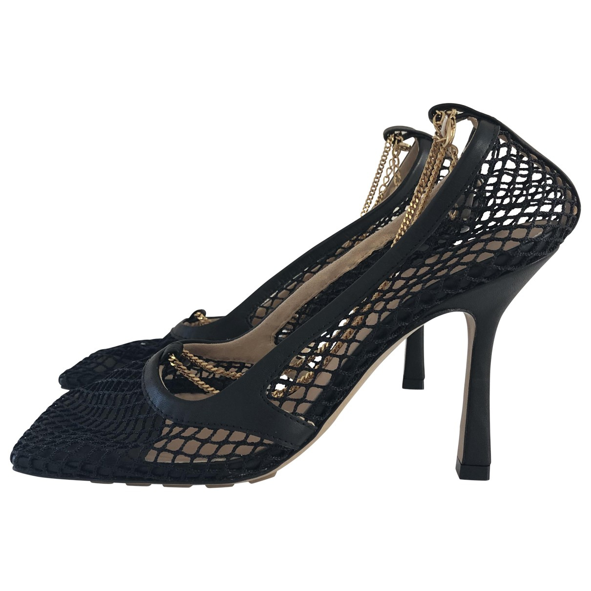 Bottega Veneta \N Black Cloth Sandals for Women 37 EU