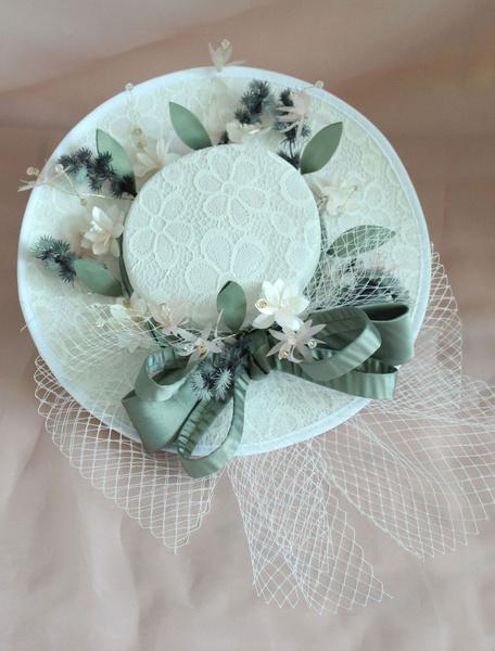 Milanoo Sombrero de boda fascinador Vintage Royal mujer nupcial tocados